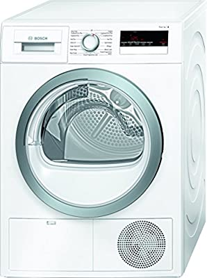 Bosch WTN85250GB Freestanding B Rated Condenser Tumble Dryer - White from AO