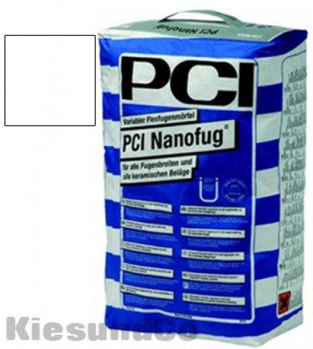 15Kg PCI Nanofug Sack Flexfugenmörtel Fugenmörtel weiß - Innen, Außen, Boden oder Wand