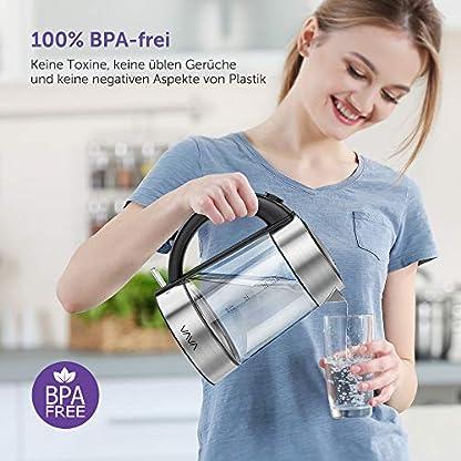 VAVA-Glas-Wasserkocher-mit-Edelstahl-Deckel-Schnelles-Wasserkochen-fr-Tee-und-Kaffee-LED-Beleuchtung-Cool-Touch-Griff-Auto-Abschaltung-Trockenlaufschutz-17L-2200W