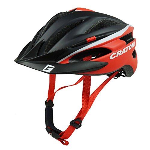 Cratoni Fahrradhelm Helm Pacer. Black-Red Matt - Visier Schwarz. Gr. S-M (54-58 cm)