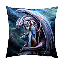 Dragon Mage Soft Feel Cushion By Anne Stokes