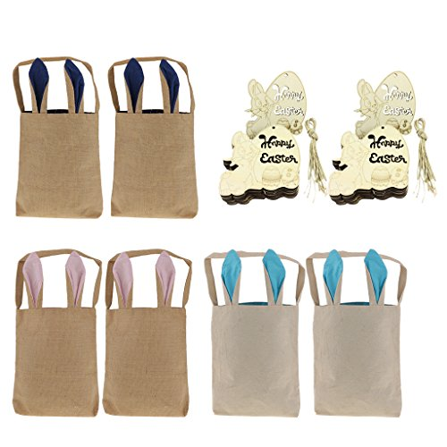 MagiDeal 6 Stücke Ostern Taschen Körbe Beutel Tüten Geschenk Tasche DIY Ostereier Verpackung