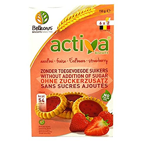 Belkorn - Activa Biscuits - Strawberry - 150g (Case of