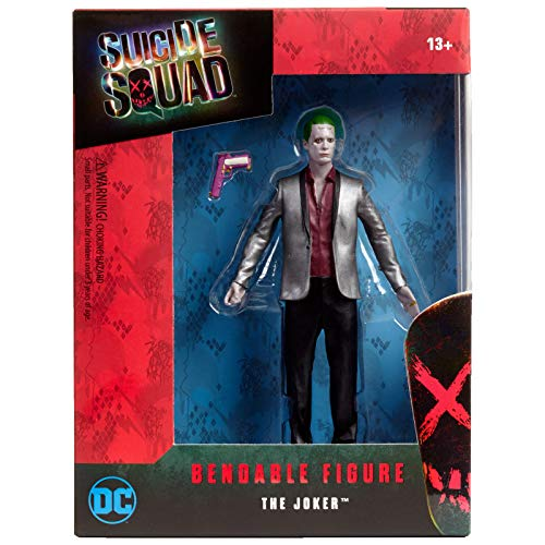 NJ Croce Suicide Squad Movie Joker Bendable Figure, Multi Color (6-inch)