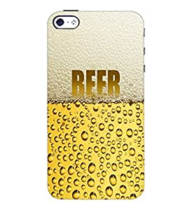 PrintDhaba Beer D-6003 Back Case Cover for APPLE IPHONE 5S (Multi-Coloured)