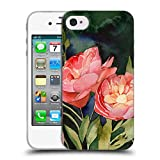 Head Case Designs Offizielle Mai Autumn Dunkle Blueten Blumiges Bouquet Soft Gel Hülle für iPhone 4 / iPhone 4S