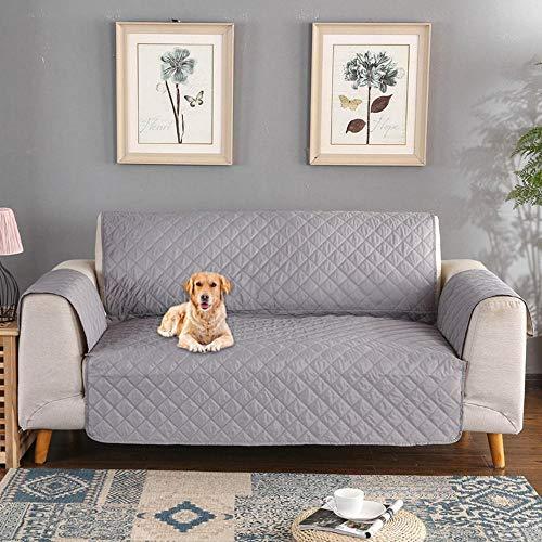 Kobwa copridivano impermeabile divano protector, fodera per divano mobili coperture su due lati per cani/gatti letto con divano slipcovers tinta unita 65,7 * 74,8in (3 posti)