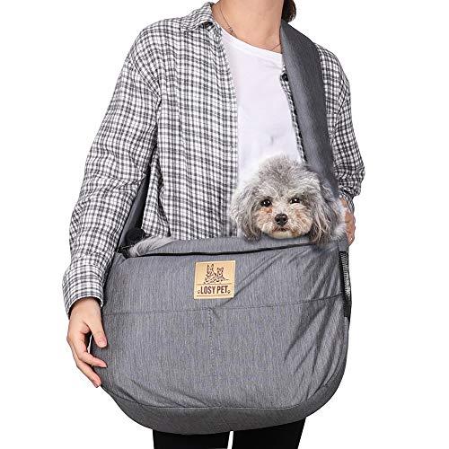 Luvodi trasportino per animali domestici, borsa a tracolla per cani e gatti, con mani libere, borsa...