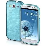 Funda protectora OneFlow para funda Samsung Galaxy S3 / S3 Neo Carcasa silicona TPU 1,5mm | Accesorios cubierta protección móvil | Funda móvil paragolpes bolso cepillado aluminio diseño en Aqua-Cyan