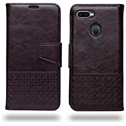 Oppo F9 Pro/Oppo F9 Flip Cover - Ceego Luxuria Compact Flip Case for Oppo F9 / Oppo F9 Pro [with Credit Card Slot] (Chestnut Brown)