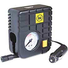 Tyre Inflator Air Tool 12v iN CAR Top of the Range Travel Essentials Heavy Duty Mini Emergency Tyre Compressor Car Tyre Inflator or for Bike / Bicycle Tyres with Internal LED Light for up to 80PSI