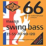 Rotosound Edelstahlsaiten für E-Bass, Runddraht, Stärke Medium Light 35 55 70 90 120