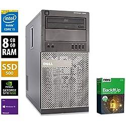PC Gamer Multimédia Unité Centrale Dell 7020 MT - Nvidia GTX 1650 - Core i5-4590 @ 3,3 GHz - 8 Go RAM - 500Go SSD - Graveur DVD - Win 10 Pro (Reconditionné)