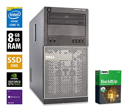 PC Gamer Multimédia Unité Centrale Dell 7020 MT - Nvidia GTX 1650 - Core i5-4590 @ 3,3 GHz - 8 Go RAM - 500Go SSD - Graveur DVD - Win 10 Pro (Reconditionné)