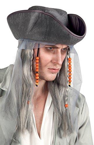 hsenenperücke Geisterpirat mit Hut, Perücken und Haarteile ()