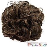 PRETTYSHOP Postizo Coletero Peinado alto, VOLUMINOSO, rizado, Moño descuidado medio marrón #10A G7A