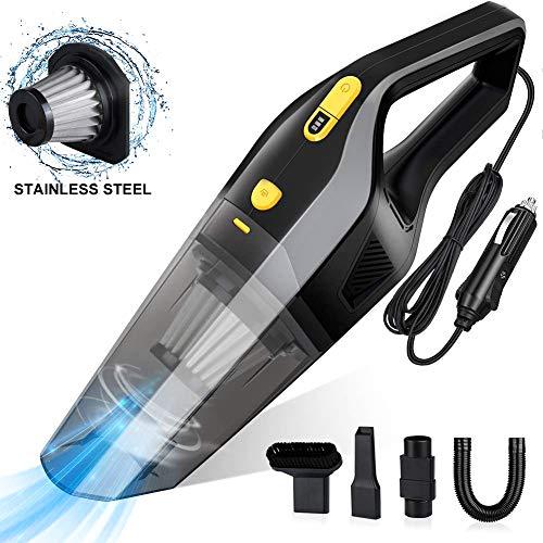 Uvistare Autostaubsauger, 3 in 1 Handstaubsauger 120W 6000Pa Nass & Trocken Auto Staubsauger mit Waschbarer Edelstahl Filter für Auto