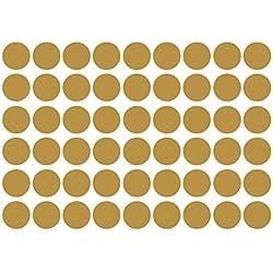 WINOMO 54 Pegatinas de Pared de Lunares Dorados extraíbles metálicos Adhesivos Redondos para decoración de Pared Festiva para guardería Infantil habitación 4 cm