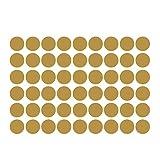 WINOMO 54Autocollants Doré Dot Stickers muraux Amovible métallique Dot Stickers Rond Autocollant pour Festive Décoration Murale Salle de Chambre d'enfant 4cm