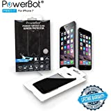 Powerbot PB901-I7 0.2 mm Tempered Glass Screen Protector For Iphone 7 W/ Easy Applicator Installation Kit, 2.5D Round Edges, 9H Hardness, Anti-Smudge