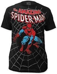 Spider-Man - Amazing Big Print Subway Kurzarm T-Shirt in Schwarz