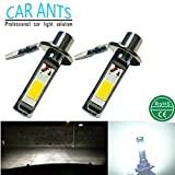 Car Ants Auto Parts Extrem helle COB Chips H1 H3 H4 H7 H8/H9/H11 H10 H16 880 881 9005 (HB3) 9006 (HB4) 30 W 1400lm LED Nebel Leuchtmittel Plug-n-Play Cool weiß Farbe (H1)(2 pro Packung )