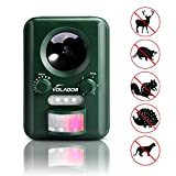 Ultrasonic Cat Fox Bird & Squirrel Repeller, Volador Solar Powered Animal Repeller Wild Animal and Pest Deterrent Scare Away Dog,Cat,Squirrel,Rat,Vole,Raccoon,Fox,Rodent,etc