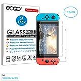 eoqo® gehärtetes Glas Displayschutzfolie für Nintendo Switch 2017 Slim 9H Härte HD Clarheit Blasenfrei Anti-Fingerabdrücke Ölabweisend & Kratzsicher (2er Pack)