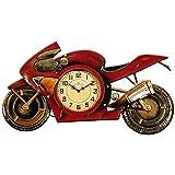Carrick Design Moto Orologio da Parete, Rosso/Oro