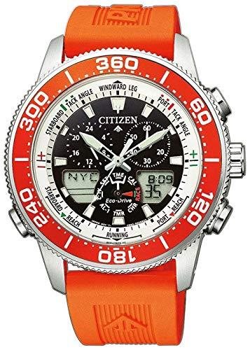 Citizen Herren Analog - Digital Quarz Uhr mit Kunststoff Armband JR4061-18E
