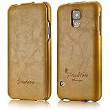 tinxi® Premium PU Kunstleder Tasche für Samsung Galaxy S5 I9600 Schutzhülle Flipcase Schale Cover Hülle Tasche Etui Skin UP DOWN in gelb