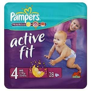 Pampers active fit couches pour b b maxi de transport lot 28 hygi ne et soins du corps - Couche bebe pour piscine pampers ...