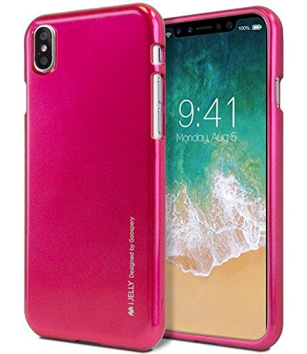 iPhone XS MAX Hülle, [Ultra Slim Fit] GOOSPERY i-Jelly Hülle [Metallic Finish] Impact Resistant [Flexible] Gummi TPU Bumper Hülle [Stoßdämpfung] für Apple iPhone XS MAX - Metallic Hot Pink - Subtilen Glanz-finish