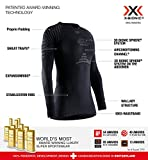 X-Bionic Invent 4.0 Round Neck Long Sleeves, Strato Base Camicia Funzionale Donna, Black/Charcoal, S