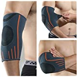 privift Elbow Compression Sleeve Brace Support and Reduce Joint Pain for Men and Women, Medium, Single piece (2017EM)