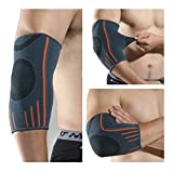 #6: Privfit Hyper-protective elbow compression brace support for workout sports, golfer elbow tennis elbow treatment and Reduce Joint Pain During any Activity faster injuries recovery for men and women (Single piece)