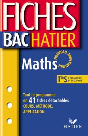 Fiches Bac Hatier : Maths, terminale S - Enseignements obligatoire et de spécialité