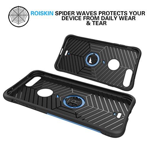 MOONCASE iPhone 7 Coque, Hybride Etui Robuste Protection de Dual Layer Case Antidérapant en TPU Gel Absorption de Chocs Housse avec Béquille pour iPhone 7 Or Or
