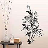 Hwhz 43 X 75 cm Beautiful Flower Wall Stickers for Living Room Bedroom Wall Decor Posters Wall Art Decals Wallpaper Home Decoration Accessories