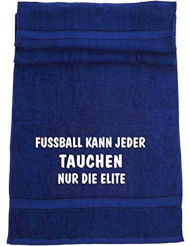 Fußball kann jeder, Tauchen nur die Elite; Badetuch Sport, dunkelblau (Elite Meer Tauchen)