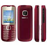 Nokia C2-00 Handy (Dual-Sim Handy, 4,6 cm (1,8 Zoll) Display, Bluetooth, MP3, E-Mail, VGA Kamera) Rot (Magenta)