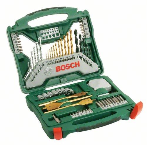 Bosch 2607019329 X-Line Set Misto, 70 Pezzi, Titanium, Avvitamento e Foratura