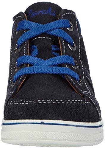 Lurchi Jessa, Baskets premiers pas mixte bébé Bleu - Blau (navy blue 42)