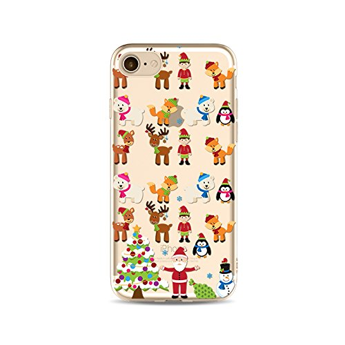 iPhone 6S Plus Custodia Silicone,iPhone 6S Plus Cover Xmas,TPU Gel Protettivo Shell Case Cover per 5.5 Apple iPhone 6 Plus/iPhone 6S Plus Merry Christmas Natale Slim Sottile Crystal Clear Silicone Mo Xmas 01