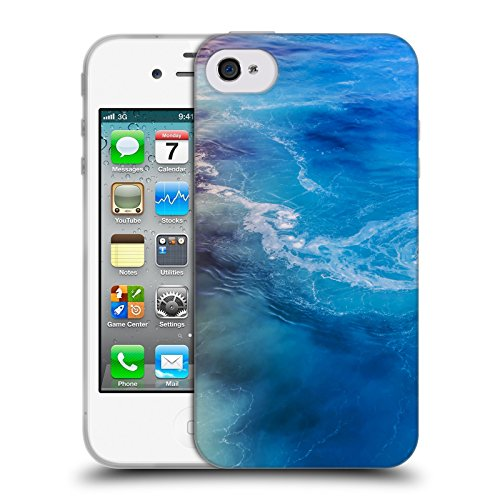 Offizielle Haroulita Strömung Santorini Meer Soft Gel Hülle für Apple iPhone 5c Strömung 2