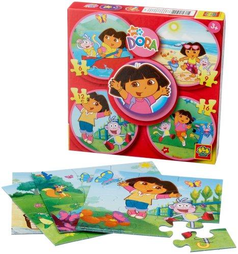 Ses - 05041 - Puzzle Enfants - Dora - 6-9-12-16 Pièces