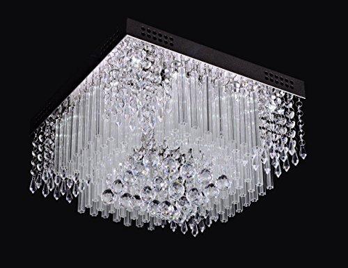 SaintMossi® Modern Unterputzmontage Wohnzimmer Kristall Deckenleuchte Kronleuchter 12 X G9 Lampenfassung Länge 40cm X Höhe 25cm X Breite 40cm - 2