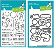 "Lawn Fawn Really High Five 4""x6"" Clear Stamp Set and Coordinating Custom Craft Die Set (LF2215, LF2216), Bundl"