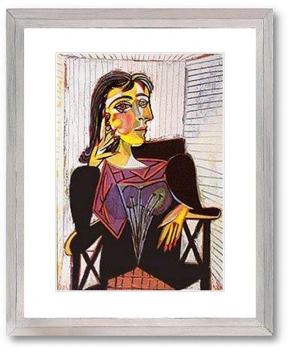 Kunstdruck Bild Pablo Picasso Portrait of Dora Maar Lithographie mit Unikatrahmen 71x56 cm PREIS-HIT