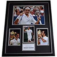 Sportagraphs Roger Federer SIGNED Framed Photo Autograph Huge display Tennis Sport AFTAL COA PERFECT GIFT